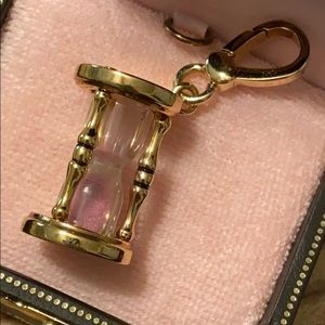 New JUICY COUTURE Pink HOUR GLASS Charm